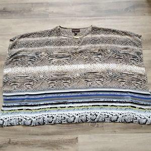 Dana Buchman XL sheer snake print blouse